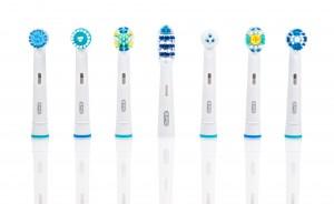 Verschillende soorten opzet borstels van Oral-B